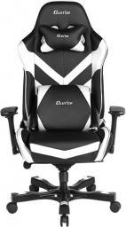 Fotel ClutchChairZ Seria Throttle – model Charlie Premium Czarno Biały (THC99BW)