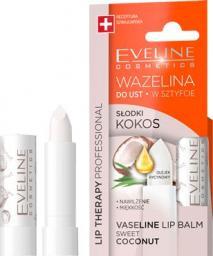 Eveline  Lip Therapy Wazelina do ust w sztyfcie nawilżająca Słodki Kokos