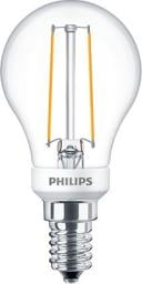 Philips Classic LEDluster Filament 2.7W, E14, 827, P45, extra clear, dimable (PH-70986300)
