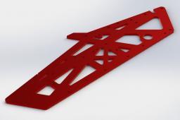 ARRMA Płyta montażowa aluminium czerwona TVP (AR320260)