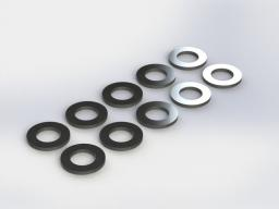 ARRMA Nakładki  3.4x5.9x0.5mm 10 szt. (AR709014)