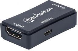 System przekazu sygnału AV Manhattan Wzmacniacz sygnału HDMI (Repeater) do 40m UHD 4K (207621)