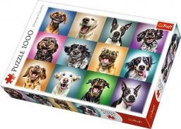 Trefl Puzzle 1000el - Zabawne psie portrety (10462)
