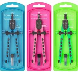 Faber - Castell cyrkiel quick-set factory neon (174335 FC)