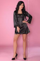 Koszulka Jacqueline Black + szlafrok + majteczki GRATIS!  - L/XL - 44240