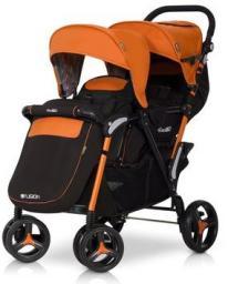 Wózek easyGO Wózek bliźniaczy Fusion Electric Orange