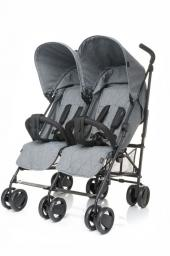 Wózek 4BABY Wózek podwójny Twins Grey