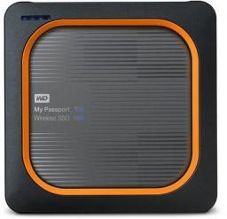 Dysk zewnętrzny Western Digital SSD My Passport Wireless 1 TB Szaro-pomarańczowy (WDBAMJ0010BGY-EESN)