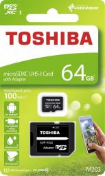 Karta MicroSD Toshiba M203 microSDXC 64GB UHS-I U1+ ADAPTER (THN-M203K0640EA)