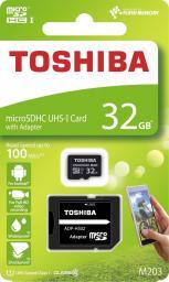 Karta Toshiba MicroSDHC M203 32GB UHS-I + adapter (THN-M203K0320EA)