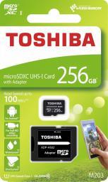 Karta MicroSD Toshiba M203 microSDXC 256GB U1 + adapter (THN-M203K2560EA)