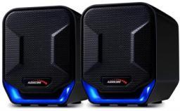 Głośniki komputerowe Audiocore 6W USB czarno-niebieskie (AC865B)