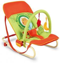 Milly Mally Leżaczek Rocker Maxi hippo pomarańczowo-zielony