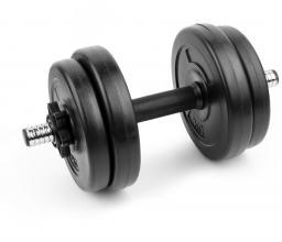 Spokey Hantel bitumiczny Burden Set 7.5kg czarny (921736)