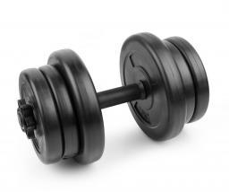Spokey Hantel bitumiczny Burden Set 10kg czarny (921036)
