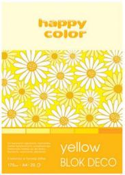 Blok biurowy GDD A4/20K Deco Yellow 170g HAPPY COLOR