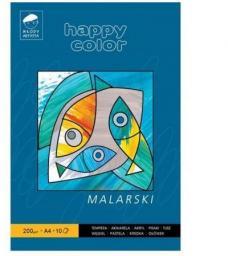 Blok biurowy GDD malarski A4/10K 200g Happy Color