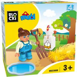 Blocki Klocki Blocki Mubi Figurka Farmerka (MU2366B)