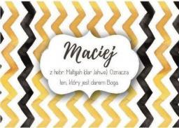 Szaron Magnes Imiona - Maciej