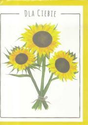 HENRY Karnet B6 Kwiaty akwarela. Słonecznik
