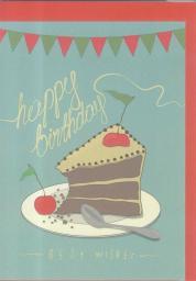 HENRY Karnet B6 Urodziny. Tort