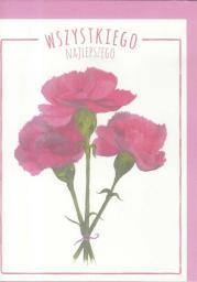 HENRY Karnet B6 Kwiaty akwarela. Goździk