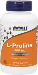 NOW L-Proline 500 mg - 120 kapsułek