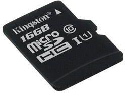 Karta Kingston MicroSDHC Canvas Select 80R 16GB CL10 UHS-I (SDCS/16GBSP)
