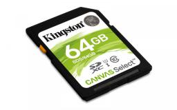 Karta Kingston SDXC 64GB Canvas Select 80R CL10 UHS-I (SDS/64GB)