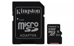 Karta MicroSD Kingston Canvas Select MicroSDXC + adapter (SDCS/64GB)