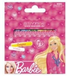 Starpak Kredki woskowe 12 kolorów Barbie