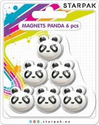 Starpak Magnes Kształt Panda Opakowanie 6 Sztuk (24/144 - PANDA MAGN)