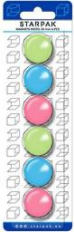 Starpak Magnes Kolorowy Pastel 30mm Opakowanie 6 Sztuk (24/144 - 30MM PASTE)