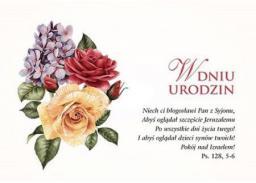 Bogulandia Kartka Urodziny - Niech ci błogosławi Pan z Syjonu (269565)