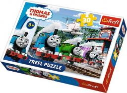 Trefl Puzzle 30el Tomek i Przyjaciele. Wyścig na torach  (18230)