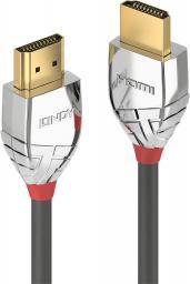 Kabel Lindy HDMI - HDMI, 0.3m, Srebrny (37869)