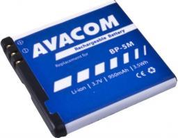Bateria Avacom  do telefonu komórkowego Nokia N81, 6500 Slide Li-Ion 3,7V 950mAh (GSNO-BP5M-S950A)