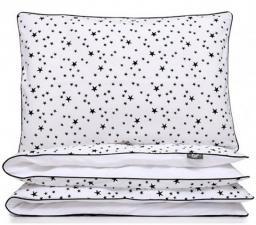 Pulp Pościel 100 % Bawełniana Gwiazdki Kołderka powłoczka 100cm x 135cm, poduszka powłoczka 40cm x 60cm (PLP00174)