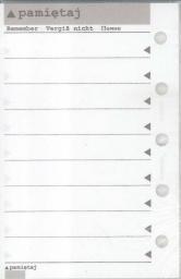 ANTRA Wkład do organizera MEM/M Pamiętaj (270097)