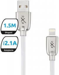 Kabel USB eXc  USB 2.0 do USB-C eXc Blade, 1,5m, biały