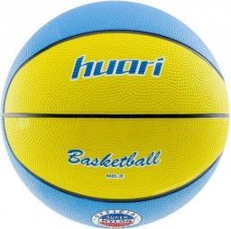 Huari Piłka do koszykówki Barkley żółto-niebieska r. 3
