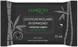 Marion Chusteczki micelarne do demakijażu z aktywnym węglem 15szt