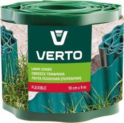 VERTO Obrzeże trawnika 10 cm x 9 m, zielone (15G510)