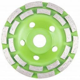 VERTO Tarcza diamentowa szlifierska 125 x 22.2 x 5 mm, podwójny segment (61H437)