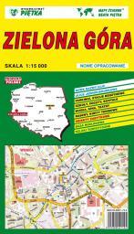 Zielona Góra  - Plan miasta  1:15 000