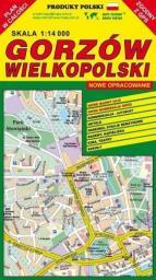 Gorzów Wielkopolski 1:14 000 plan miasta