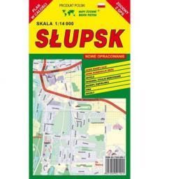 Słupsk 1:14 000 plan miasta