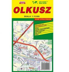 Olkusz 1:15 000 plan miasta