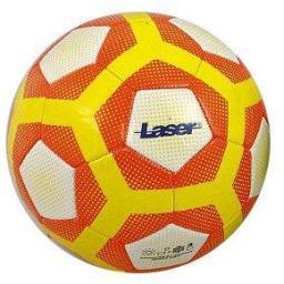 Adar Piłka nożna Laser biało-żółto-pomarańczowa r. 5 (S/428775)