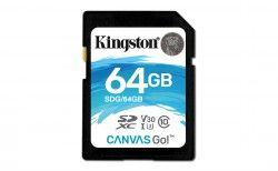 Karta pamięci Kingston 64GB SDXC Canvas Go 90R/45W CL10 U3 V30 (SDG/64GB)